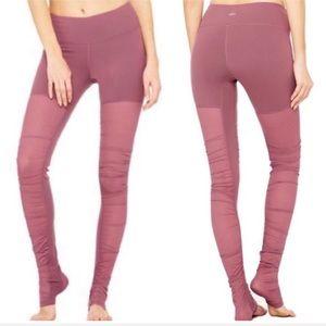 ALO Yoga Goddess Mesh Leggings in Grenache XS